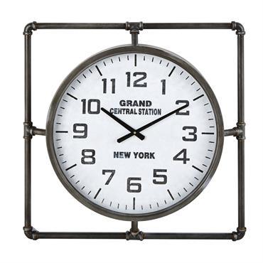 Horloge en métal noir 64x64