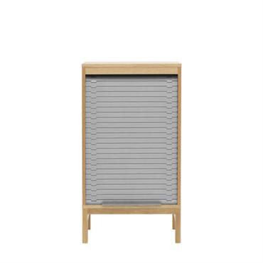 Semainier Jalousi Bas / H 101 cm - Bois & rideau plastique
