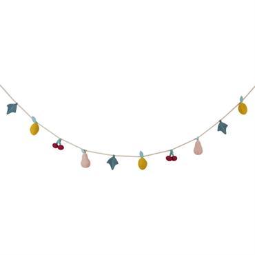 Guirlande fruits multicolores en crochet L190