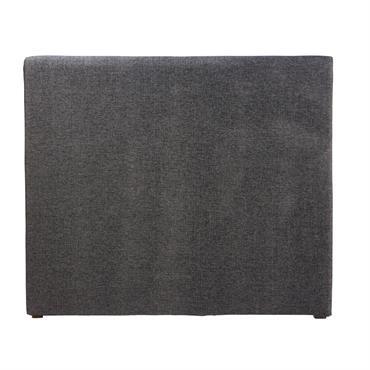 Housse de tête de lit 140 gris carbone