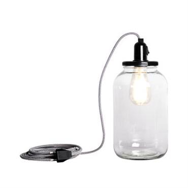 Lampe Pickle Light / Large H 30 cm - Pop Corn noir