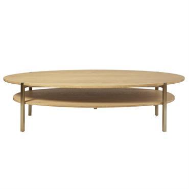 Table basse ovale 2 plateaux Karla