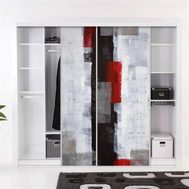Porte coulissante, sur mesure et 100% personnalisable pour équiper et décorer  vos espaces de rangement  Domozoom