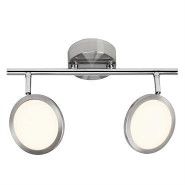 Barre 2 spots LED orientables acier L31