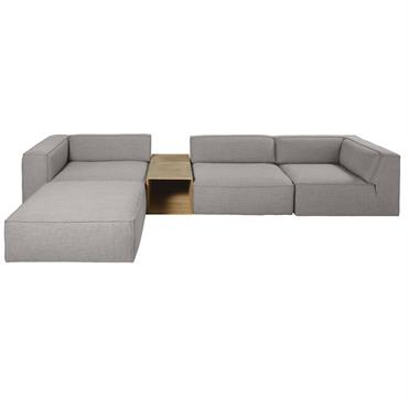 Chauffeuse de canapé grise Fakir