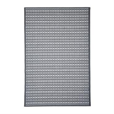Tapis géométrique scandinave en polypropylène anthracite 130x190