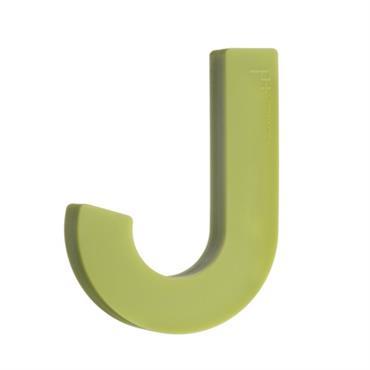 Patère design souple en silicone vert