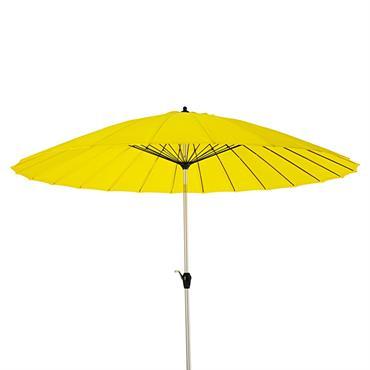 Parasol inclinable en aluminium et tissu jaune 3x3m Papaye