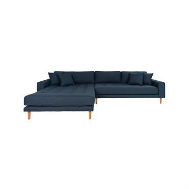 Canapé d'angle gauche moderne en tissu MILIME