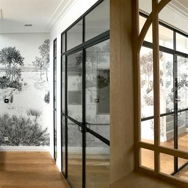 Restructuration du rez de chaussée d'une maison contemporaine à Bordeaux par la création d'ouvertures pour libérer l'espace, la lumière naturelle. ... Domozoom
