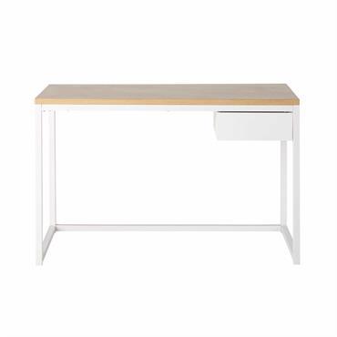 Bureau 1 tiroir en métal blanc Igloo