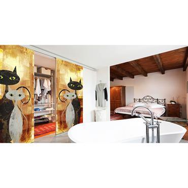 Le fabricant Tixelia propose des portes de placards et des cloisons coulissantes en toiles tendues personnalisables à l'infini. L'idée est ... Domozoom