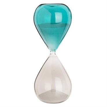 Sablier en verre bicolore