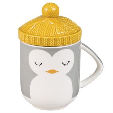 Mug chapeau pingouin en faïence