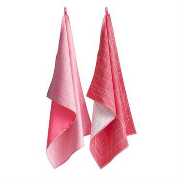 Torchon Box / Set da 2 - Hay rose en tissu