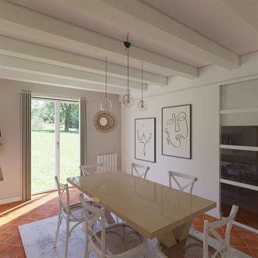 Aménagement et décoration d'une pièce de vie proche d'Orléans  Domozoom