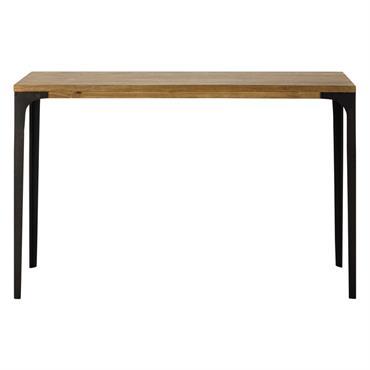 Table console en métal et manguier massif L 120 cm Metropolis