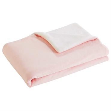 Couverture bébé rose à pois 100x75cm CAPUCINE