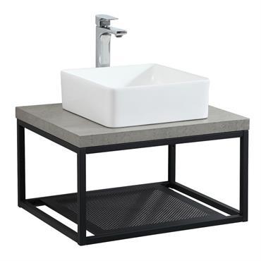 Meuble de salle de bain effet béton