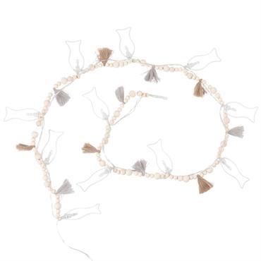 Guirlande lumineuse 12 LED poissons en métal et perles