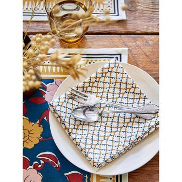 Serviette de table par lot de 4 - Collection Jamini Design imprimé croix