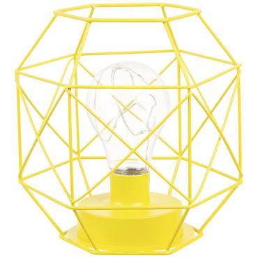 Lampe filaire en métal jaune