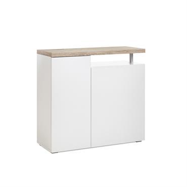 Commode 2 portes L100cm - Blanc mat