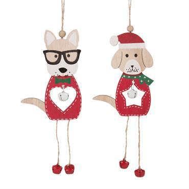 Suspensions de Noël chiens