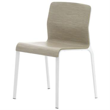 Chaise empilable Bend / Bois - MDF Italia Blanc