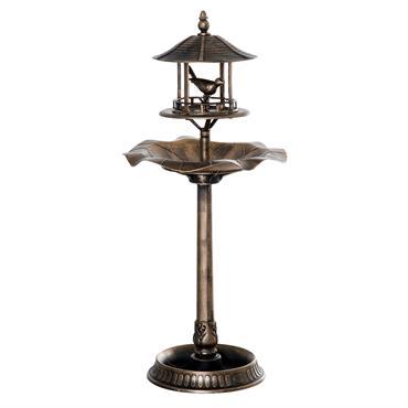 Bain d'oiseaux abreuvoir oiseaux polypropylène bronze antique