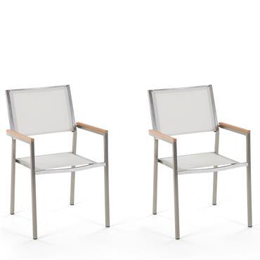 Lot de 2 chaises blanches en acier