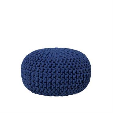 Pouf pratique de haute qualité. Pour rajouter un petit plus à votre décoration, ce pouf rond tricoté en gros fils de coton est très confortable et incroyablement pratique. Il est ...