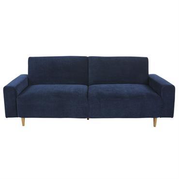 Canapé-lit 3 places bleu foncé Russel