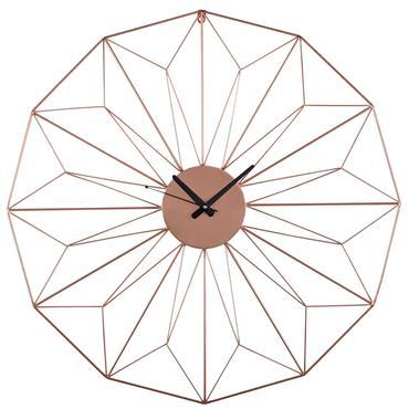 Horloge en métal cuivré D80