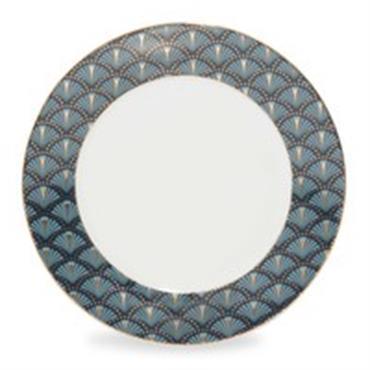 Assiette à dessert en porcelaine bleue D 20 cm MILORD
