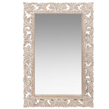 Miroir en manguier sculpté 60x90