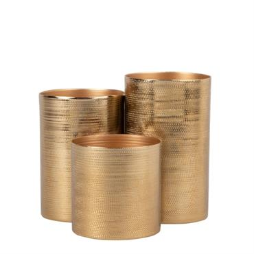 Pot triple en métal doré