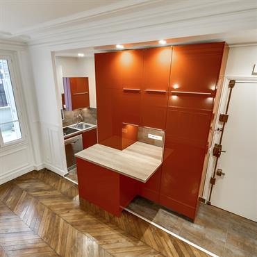 Transformation d'une cuisine classique en une cuisine ouverte avec remise aux normes de toute l'électricité  Domozoom