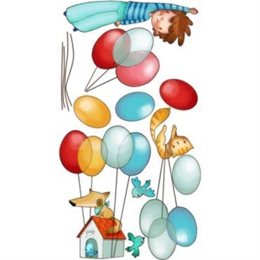 Le stickers déco Dans les airs garçon est composé de ballons, et de personnages plus mignons les uns que les autres, de vrais petits bijoux pour décorer vos murs. Acte ...