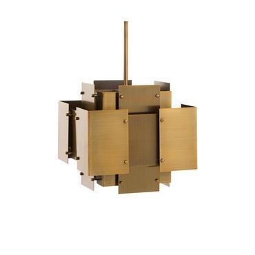 Suspension design métal doré