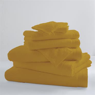 Drap de bain uni et coloré coton banane 150x100