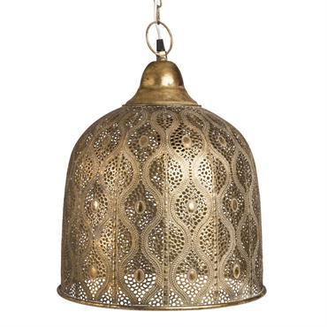 Suspension en métal doré à motifs