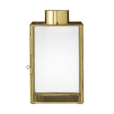 Créez une ambiance chaleureuse et tamisée, avec cette élégante lanterne dorée signée Bloomingville. Son format en hauteur vous permettra de la déposer au sol, ou sur un meuble, en intérieur ...