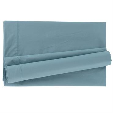 Drap de lit Mezzo, en percale 100% coton peigné. Finition brodée ton sur ton, toucher glacé. Coloris gris. Disponible en 180 x 290 cm, 240 x 300 cm, 270 x ...