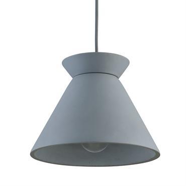 Suspension filaire en béton gris
