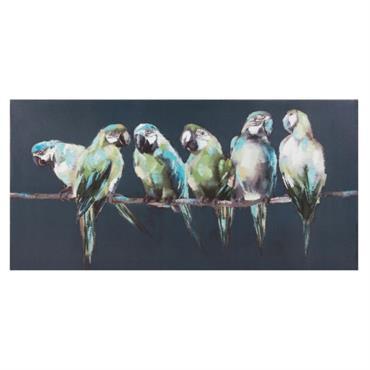 Toile perroquets 70x35