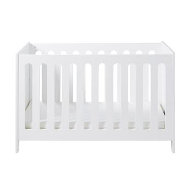 Lit bébé à barreaux 60x120 blanc Eliot