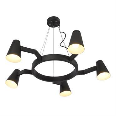 Suspension noire 5 lampes