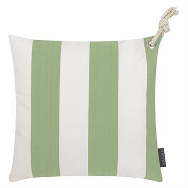 Housses de coussin rayées vert/blanc avec corde-Lot de 2-40x40