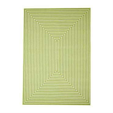 Tapis géométrique design en polypropylène vert 160x230